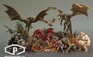 HEROIC FANTASY CREATURES FULL PACK Volume 1 2.3 unity怪物合集包