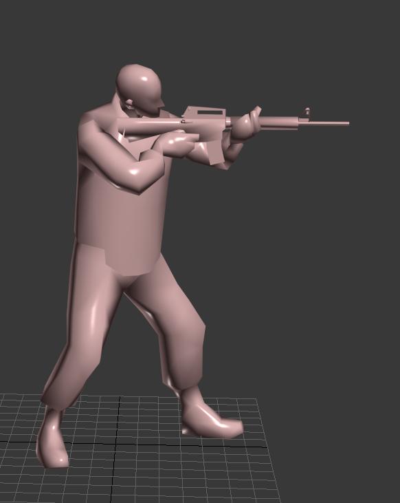 3dmax射击类游戏动作库