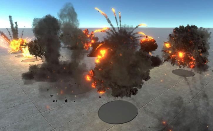 HQ Realistic explosions 1.1.2unity爆炸粒子特效 unity cg特效 插件 第1张
