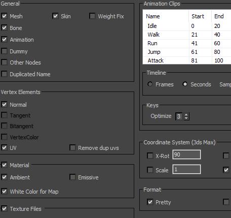 unity使用json三维模型的变形动画picture