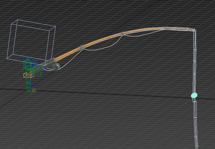 3dmax动画技巧-将鱼线浮出水面的部分固定(浮漂)