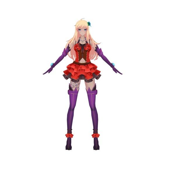 二次元美女角色模型11个动画支持unity虚幻引擎导入提供源文件 3damx动画 游戏动画 游戏模型 动画 unity资源包 游戏引擎 第3张