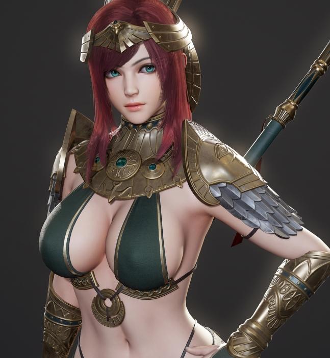 精致女战士模型免费分享